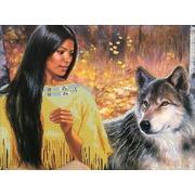 """Канва/ткань с нанесенным рисунком Глурия (Астрея) """"Разговор с волком"""""""
