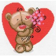 """Канва/ткань с нанесенным рисунком Матрёнин посад """"Мишуткина любовь"""""""