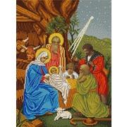 """Канва/ткань с нанесенным рисунком Конёк """"Рождество Христово"""""""