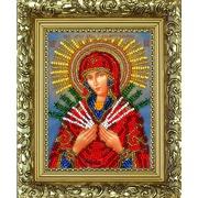 """Набор для вышивания бисером Вышиваем бисером """"Семистрельная икона Божией Матери (+рамка)"""""""