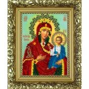 """Набор для вышивания бисером Вышиваем бисером """"Иверская икона Божьей Матери (+рамка)"""""""