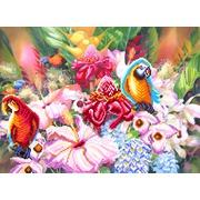 """Канва/ткань с нанесенным рисунком Матрёнин посад """"Цветущие тропики"""""""