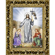 """Канва/ткань с нанесенным рисунком Вышиваем бисером """"Принт икона Воскресение Христово"""""""