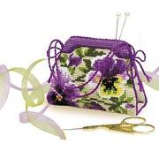 """Набор для вышивания крестом Риолис """"Игольница-сумочка.Анютины глазки"""""""