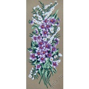 """Канва/ткань с нанесенным рисунком Gobelin-L """"Сиреневые цветочки"""""""
