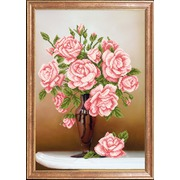 """Канва/ткань с нанесенным рисунком Магия канвы """"Свежие розы"""""""