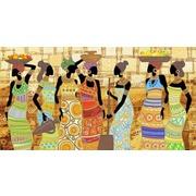 """Канва/ткань с нанесенным рисунком Конёк """"Африканский колорит"""""""
