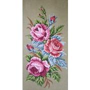 "Канва/ткань с нанесенным рисунком Gobelin-L ""Розы"""