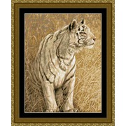 """Набор для вышивания крестом Kustom Krafts Inc. """"Охота белого тигра"""""""
