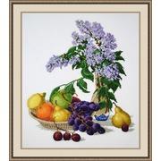 """Набор для вышивания крестом Овен """"Сирень и фрукты"""""""