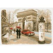 "Канва/ткань с нанесенным рисунком Матрёнин посад ""Париж"""