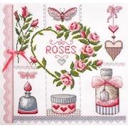 """Набор для вышивания крестом Марья искусница """"Розовое"""""""
