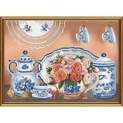 """Набор для вышивания крестом Nova sloboda """"Летний чай"""""""