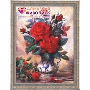 """Набор для выкладывания мозаики Алмазная живопись """"Прекрасные розы"""""""