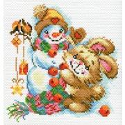 "Канва/ткань с нанесенным рисунком Матрёнин посад ""Веселая зима"""