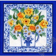 """Набор для вышивания крестом Candamar Designs """"Нарциссы и голубой фаянс"""""""
