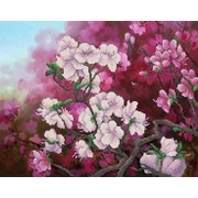 """Канва/ткань с нанесенным рисунком Конёк """"Весенний цвет"""""""
