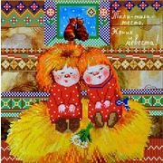 """Канва/ткань с нанесенным рисунком Конёк """"Тили-тили-тесто"""""""
