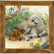 """Набор для вышивания крестом Риолис """"Ягненок и кролик"""""""