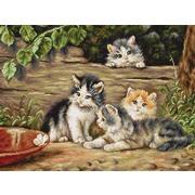 """Набор для вышивания крестом Luca-S """"Кошки"""""""