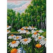"""Набор для выкладывания мозаики Вышиваем бисером """"Ромашки в лесу"""""""