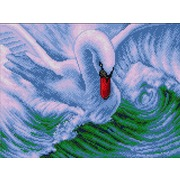 """Набор для выкладывания мозаики Вышиваем бисером """"Лебедь"""""""