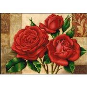"""Канва/ткань с нанесенным рисунком Конёк """"Красные розы"""""""