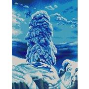"""Канва/ткань с нанесенным рисунком Конёк """"На севере диком"""""""