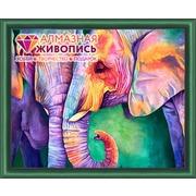 """Набор для выкладывания мозаики Алмазная живопись """"Мудрость слонов"""""""