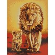 """Канва/ткань с нанесенным рисунком Конёк """"Король лев"""""""