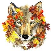 """Набор для вышивания бисером Матрёнин посад """"Осенний волк"""""""