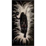 """Набор для вышивания хрустальными бусинами Образа в каменьях """"Черная пантера"""""""