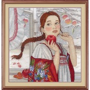 """Набор для вышивания крестом М.П. Студия """"Зимняя красавица"""""""