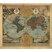 """Канва/ткань с нанесенным рисунком Матрёнин посад """"Карта 18 века"""""""
