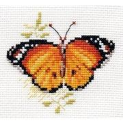 """Набор для вышивания крестом Алиса """"Яркие бабочки. Оранжевая"""""""