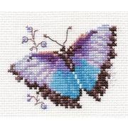 """Набор для вышивания крестом Алиса """"Яркие бабочки. Голубая"""""""