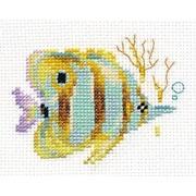 """Набор для вышивания крестом Алиса """"Тропические рыбки. Полосатая"""""""