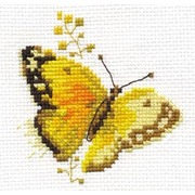 """Набор для вышивания крестом Алиса """"Яркие бабочки. Желтая"""""""