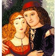 """Канва/ткань с нанесенным рисунком Матрёнин посад """"Любовь Ромео и Джульеты"""""""