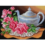 """Набор для выкладывания мозаики Вышиваем бисером """"Чайник с розами"""""""