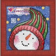 """Набор для выкладывания мозаики Алмазная живопись """"Портрет снеговика"""""""