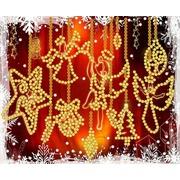 """Канва/ткань с нанесенным рисунком Конёк """"С Рождеством"""""""