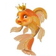 """Канва/ткань с нанесенным рисунком Конёк """"Золотая рыбка"""""""