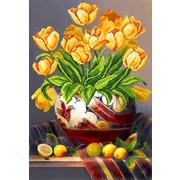 """Канва/ткань с нанесенным рисунком Матрёнин посад """"Тюльпаны"""""""