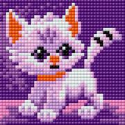 """Набор для выкладывания мозаики Вышиваем бисером """"Кошка"""""""