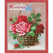 """Набор для выкладывания мозаики Алмазная живопись """"Корзинка роз"""""""
