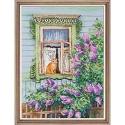 """Набор для вышивания крестом Овен """"А за окном весна..."""""""