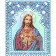 """Канва/ткань с нанесенным рисунком Конёк """"Святейшее сердце Иисуса"""""""