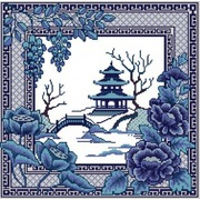 """Канва/ткань с нанесенным рисунком Конёк """"Восточная страна"""""""