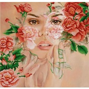 """Канва/ткань с нанесенным рисунком Конёк """"Поэзия цветов"""""""